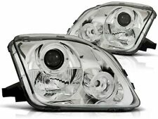 HEADLIGHTS LPHO23 HONDA PRELUDE 1997 1998 1999 2000 2001 ANGEL EYES CHROME