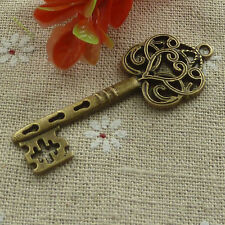 Free Ship 1000 pcs Antique bronze key pendant 60x21mm #1274