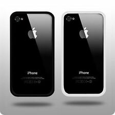 Black & White parachoques paquete doble de casos para Apple Iphone 4 Y 4s vendedor Reino Unido