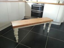 6FT Dining Bench, Handcrafted Solid Pine Kitchen Bench, Bespoke Farmhouse Chair