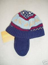 Gymboree Colorful Village Blue Fair Isle Moose Sweater Winter Hat NWT 3-6