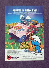 F315-Advertising Pubblicità- 1975 - PUFFI IN AUTO BBURAGO