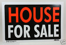 "HOUSE FOR SALE SIGN 8""X12"" BUSINESS HOME RENTAL USA MADE PLASTIC NEW"