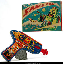 Sparkling Space Gun TS Japan tin friction pistol