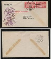 US  Honolulu  to  Hong Kong first flight 1937  cachet   clipper stamps  KEL0217