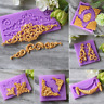 3D Relief Flower Silicone Fondant Mold Cake Border Decoration Sugar Paste Mould
