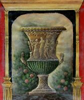 Quality Hand Painted Oil Painting Fountain with Statue 20x24in