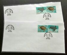 1995 Malaysia Marine Life Turtle 4v Stamp (se-tenant 'A & B') 2 private FDC (KL)