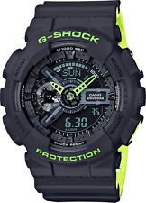 New G-Shock GA110LN-8A Gray / Neon Green Layered Ana-Digital WATCH