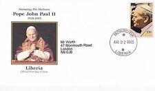 Liberia 2005 in (ca. 5092.70 cm) di memoria di Papa Giovanni Paolo II FDC