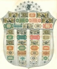 Us Fractional Currency. 1:1 Copied from the Original Bank Sampler Shield