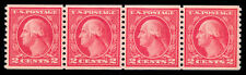 Momen: Us Stamps #455 Coil Strip Of 4 Mint Og Nh Xf+ Pse Cert #1325443