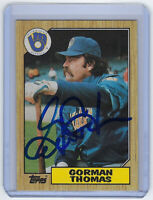 1987 BREWERS Gorman Thomas signed card Topps #495 AUTO Autographed Milwaukee