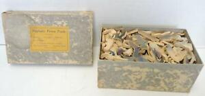1930s Perplexity Wood Picture Puzzle Moccasin Tracks