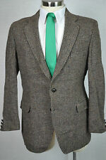 (42R) Harris Tweed Adams Row Men's Brown 100% Wool Sport Coat Blazer Jacket