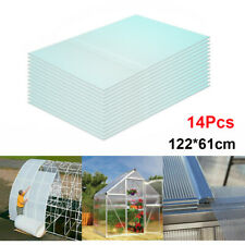 More details for 14pcs clear polycarbonate twinwall sheets 4mm double wall panel greenhouse sheet