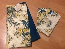 April Cornell Birds of Provence Set 2 Tea Towels + 3 Napkins Yellow Teal Beige