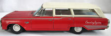 Vintage Ford Country Squire Tin Litho Friction Car Red Made in Japan Works