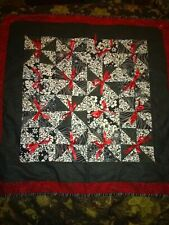 Red Black And White Lap Quilt Contemporary Fabrics