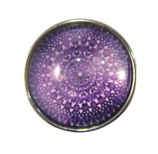 Snap Button Charms Ginger Snaps Buttons Chunk Charm Mandala Purple 6