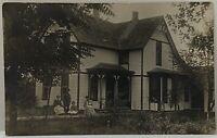 RPPC Victorian Era Family Home Portrait Real Photo Postcard C1900s