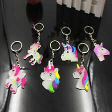 2X Luminous Keychain Unicorn Key Ring Bag Accessory Pendant Gift Décor