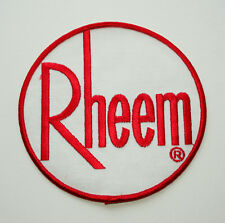 Vintage Large Rheem HVAC Water Boiler Furnace Appliance Uniform Patch NOS 1970s