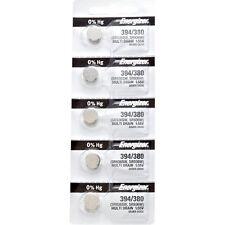 5 x Energizer 394 Watch Batteries, 0% MERCURY equivilent SR936SW or 380