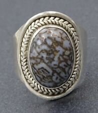 Delightful Genuine Turquoise & 925 Sterling Silver Ladies Ring