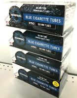 Shargio Blue Light 100s 100mm Cigarette Filtered Tubes - 4 Boxes (1000 Tubes)