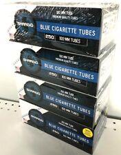 Shargio Blue Light 100s 100mm Cigarette Filtered Tubes - 4 Boxes (1000 Tubes)