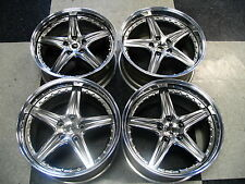 "New Set of 4 Scarallo ROH Modena 18"" Wheel Rims For Nissan 370Z Infiniti G35"