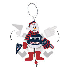 Too Cool!  New England Patriots Cheering Snowman Christmas Ornament __S97