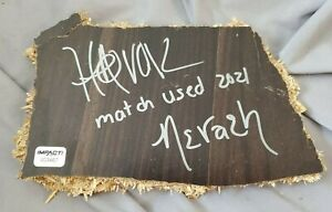 HAVOK & NEVAEH match-used & autographed Broken Table Slab w/ Hologram * IMPACT