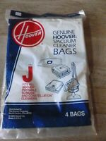 Hoover Genuine 4010010J, Type J Canister Vacuum Paper Bags (4) Free Shipping!