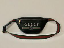 😎Authentic GUCCI Logo BELT  Small  Black/ Green/ Red BAG + Authenticity Card!
