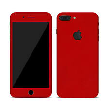 Skin Sticker Wrap Decal for APPLE iPHONE 8 PLUS - Carbon - Matt -Tempered Glass