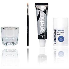 Refectocil Eyelash Eyebrow Tint Dye Kit Black No.1 +brush Dish Developer