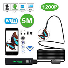 Semi-Rigid 1200P Endoscope WIFI Borescope HD Camera Scope Car Diagnostic Tool