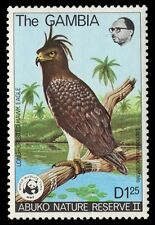 "GAMBIA 384 (SG403) - WWF Abuko Reserve ""Long-crested Hawk Eagle"" (pf17446)"