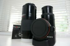 Sony A to E Mount Lens Adapter LA-EA2 LAEA2 w/ 2 Minolta lenses