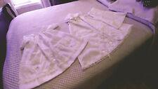 VINTAGE 3-PCE Baby Christening Gown Dress Set Clothes Antique Reborn Dolls #2