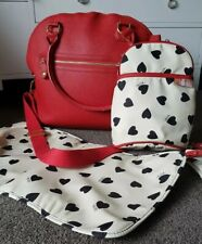 Isoki RED Madame Polly Nappy Bag  baby bag   RRP $180 large
