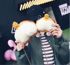 2 Kawaii Dog Corgi Butt Ass Plush Shoulder Chain Messenger Bag Handbag Coin Bag