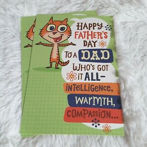Hallmark Happy Father's Day Dad Greeting Cards Bright Colors Cat