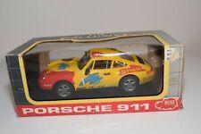 WW 1:18 DICKIE PORSCHE 911 RALLY YELLOW MINT BOXED