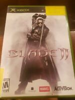 Blade II 2 (Microsoft Xbox, 2002) Black Original OG Game Marvel COMPLETE CIB
