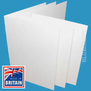 10 pack x A4 LARGE White Card Blanks Thick 400gsm Cardmaking - Pre Scored