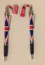 2 X Union Jack Design London Ciondolo Penna British Souvenir Regalo