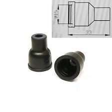 4x HT Silicone PVC insulators for distributor cap - 7mm 8mm Straight Black
